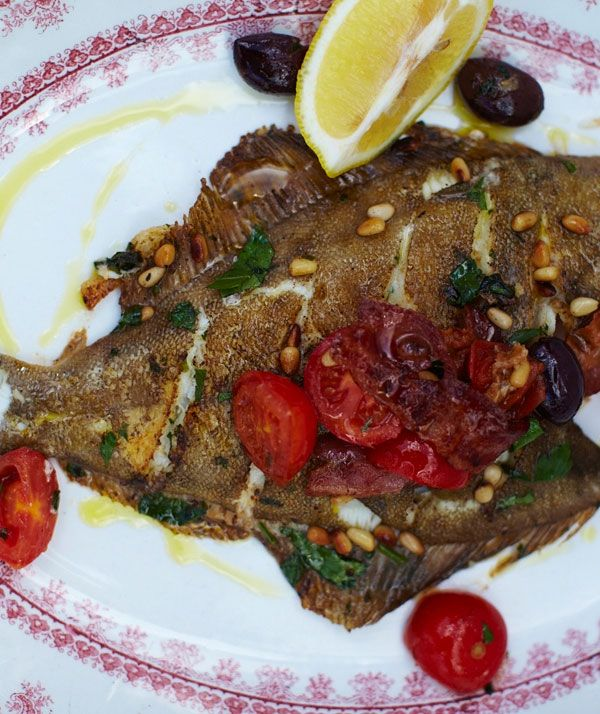 Mediterranean style dab recipe dabbing jamie oliver for Mediterranean fish recipes