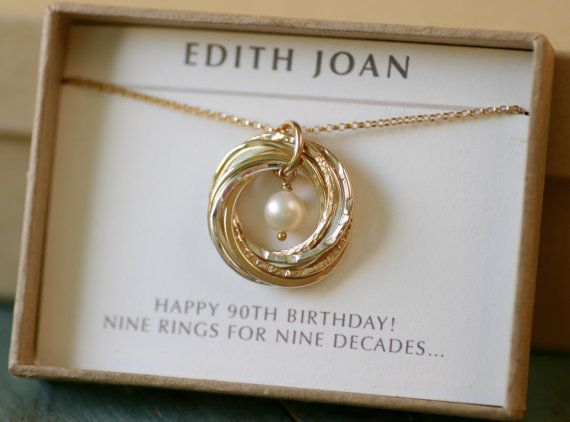 90th Birthday Gift For Grandmother Necklace Gift For Mom Jewelry