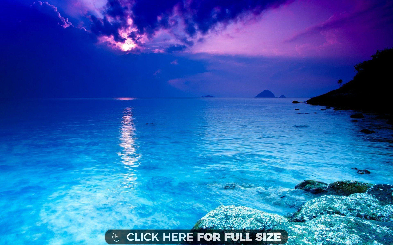 A Serene Ocean Hd Wallpaper Ocean Wallpaper Sea Pictures Ocean Scenes