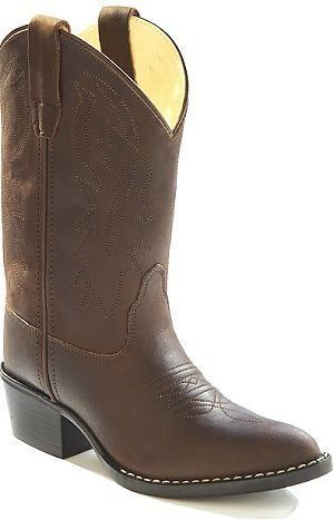 54f0da925c0 Kids Brown Leather Cowboy Boots 12 Child Old West.  49.99