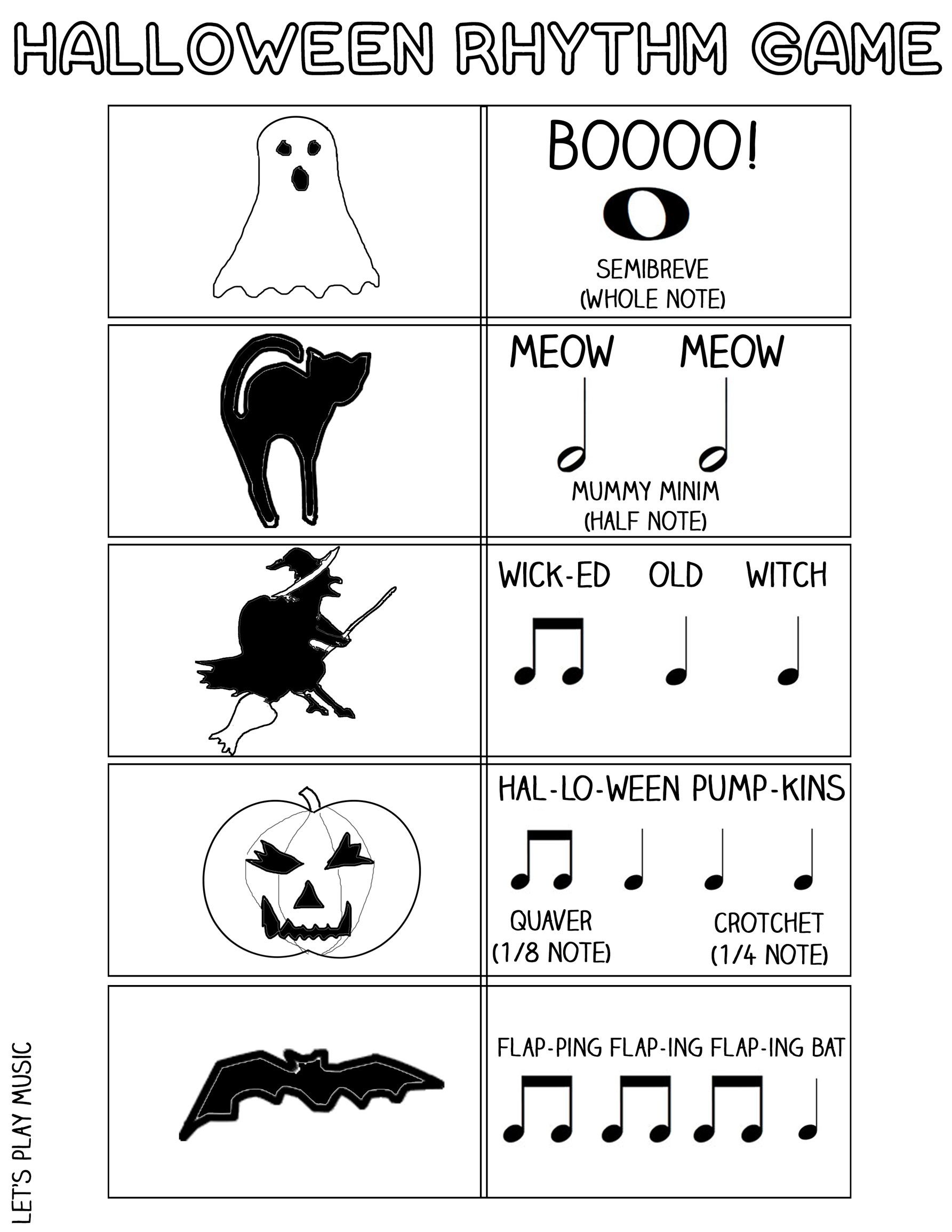 the scary witch halloween rhythm game | teaching things | pinterest