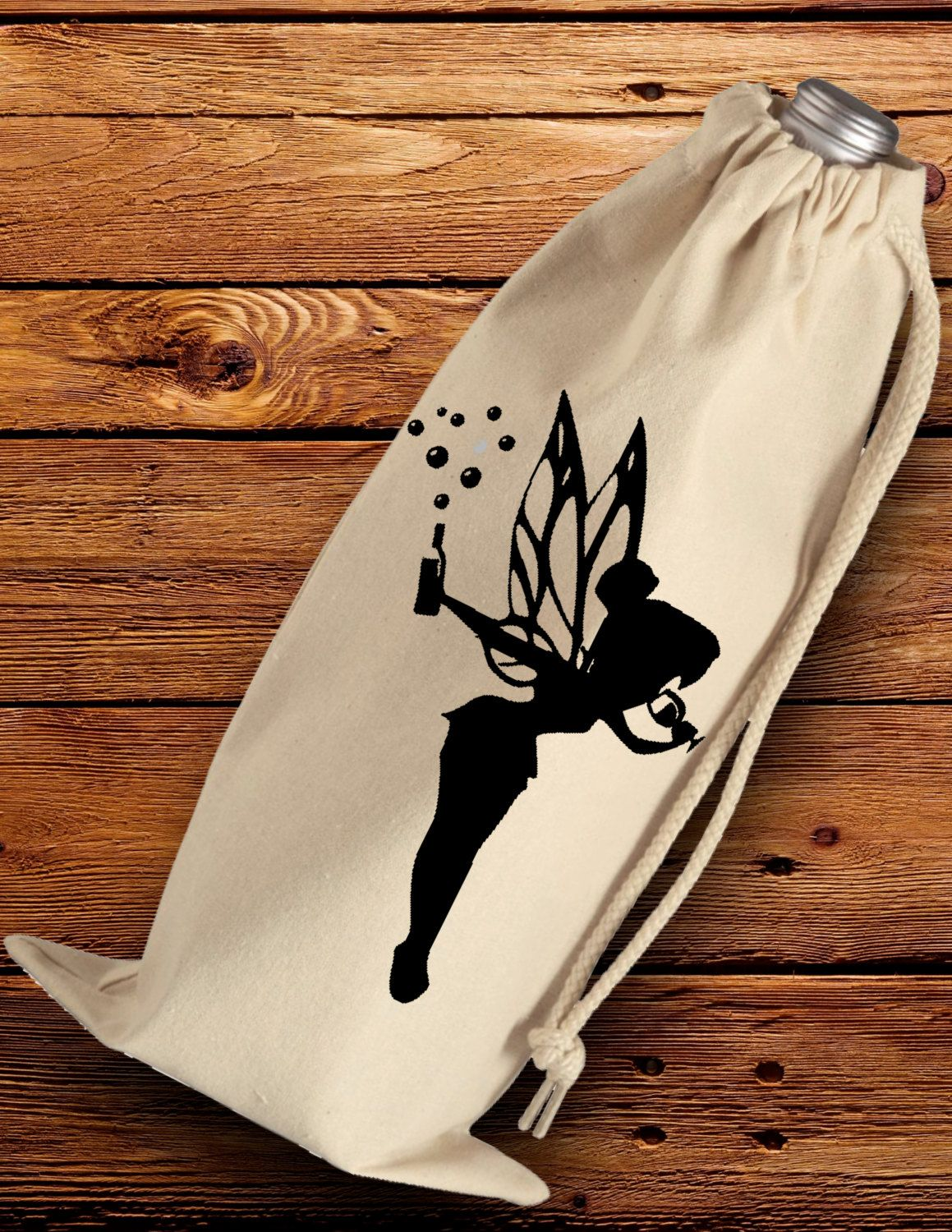Drinkerbell Wine Tote, Tinkerbell, Wine Gift Bag, Wine, Birthday ...