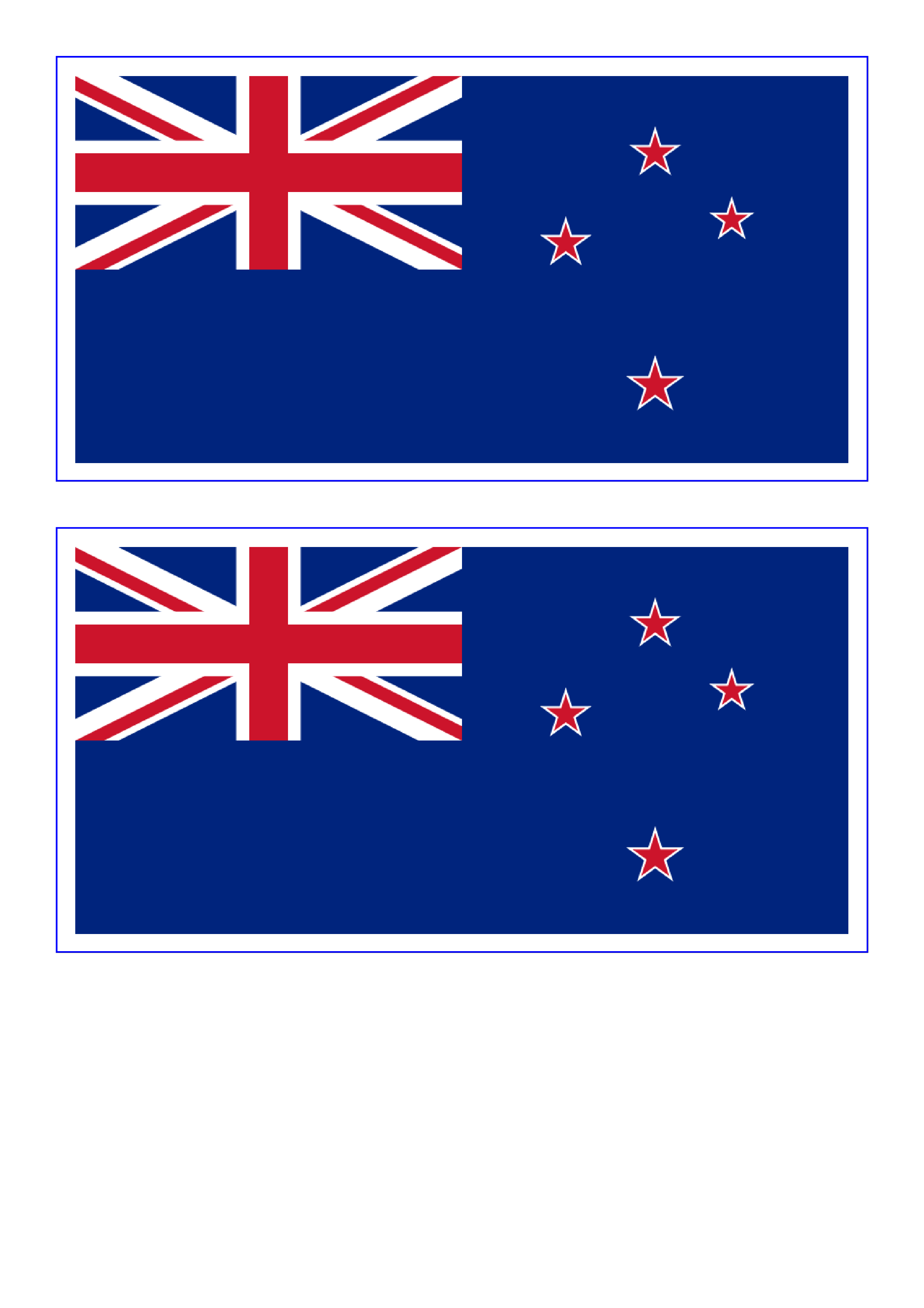 New Zealand Flag  Free Printable New Zealand Flag  templates