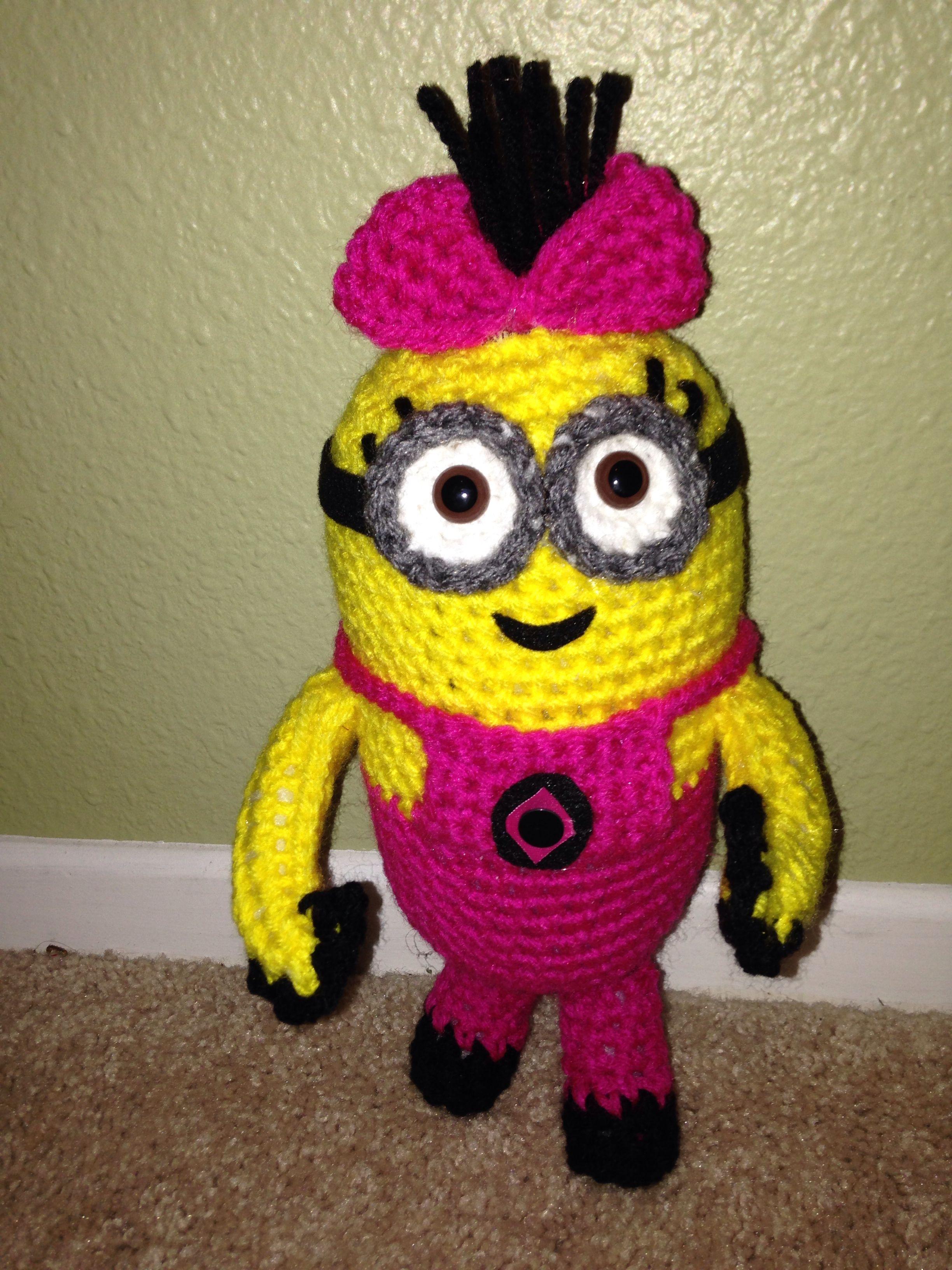 Crochet girl minion … | Minion T…