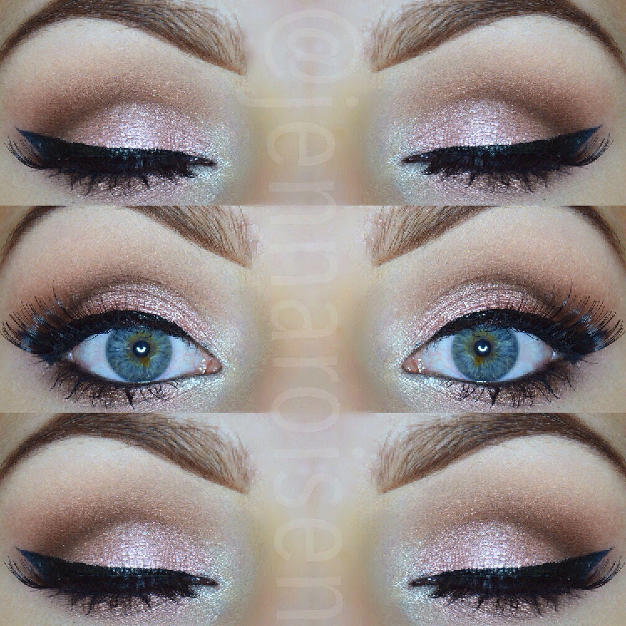 gold smokey eye using the lavish palette