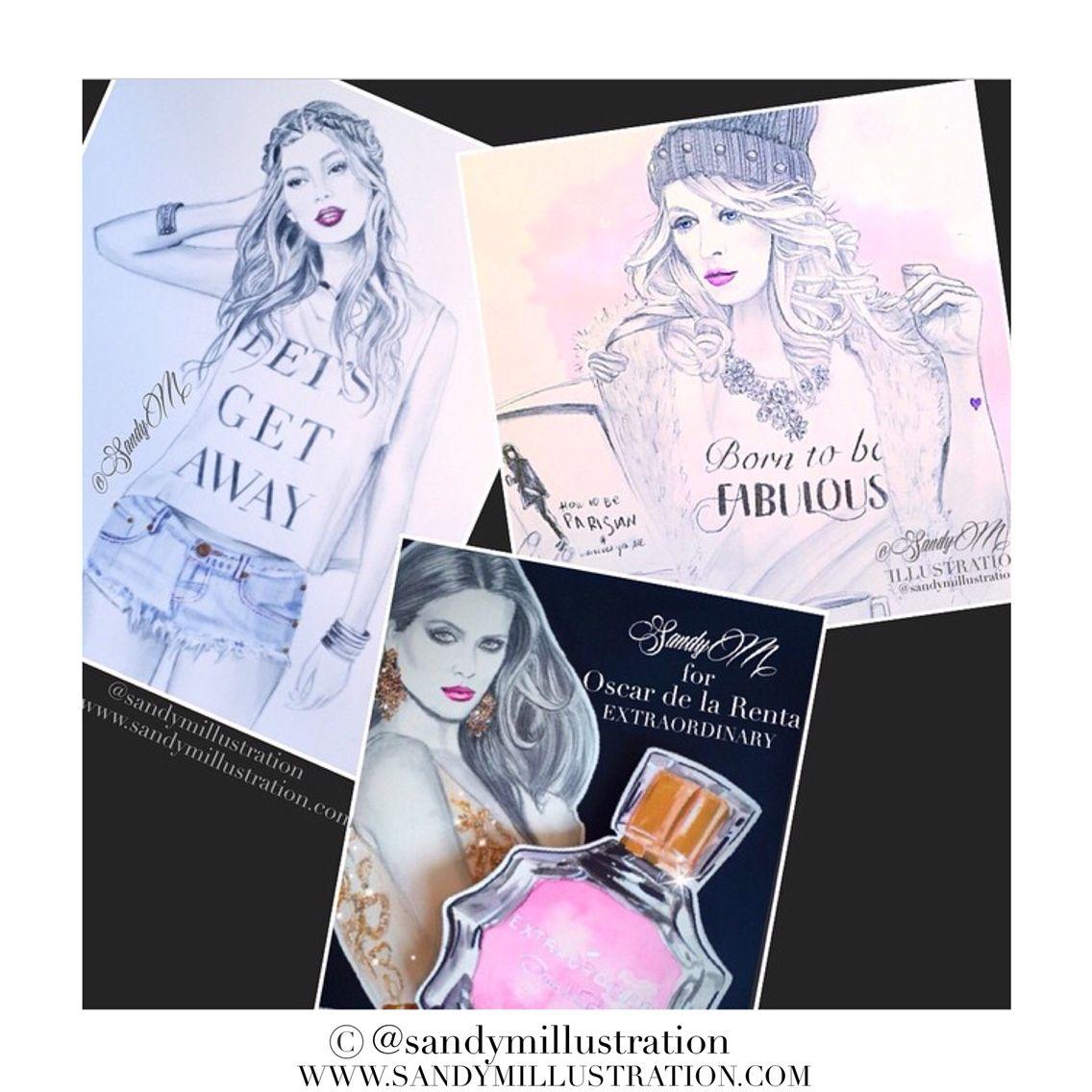www.sandymillustration.com #fashionillustration by #sandym #sandymillustration #fashion #illustration