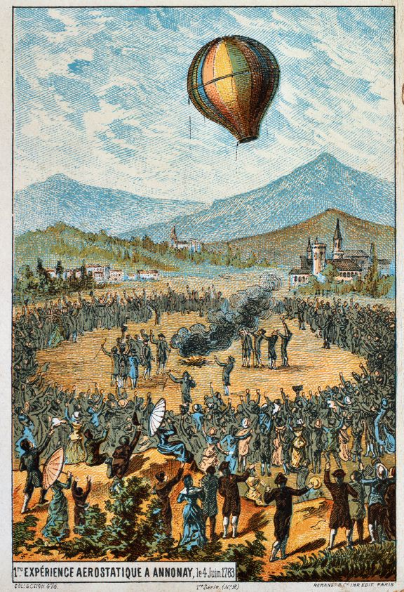 Today in History First Untethered HotAir Balloon Flies
