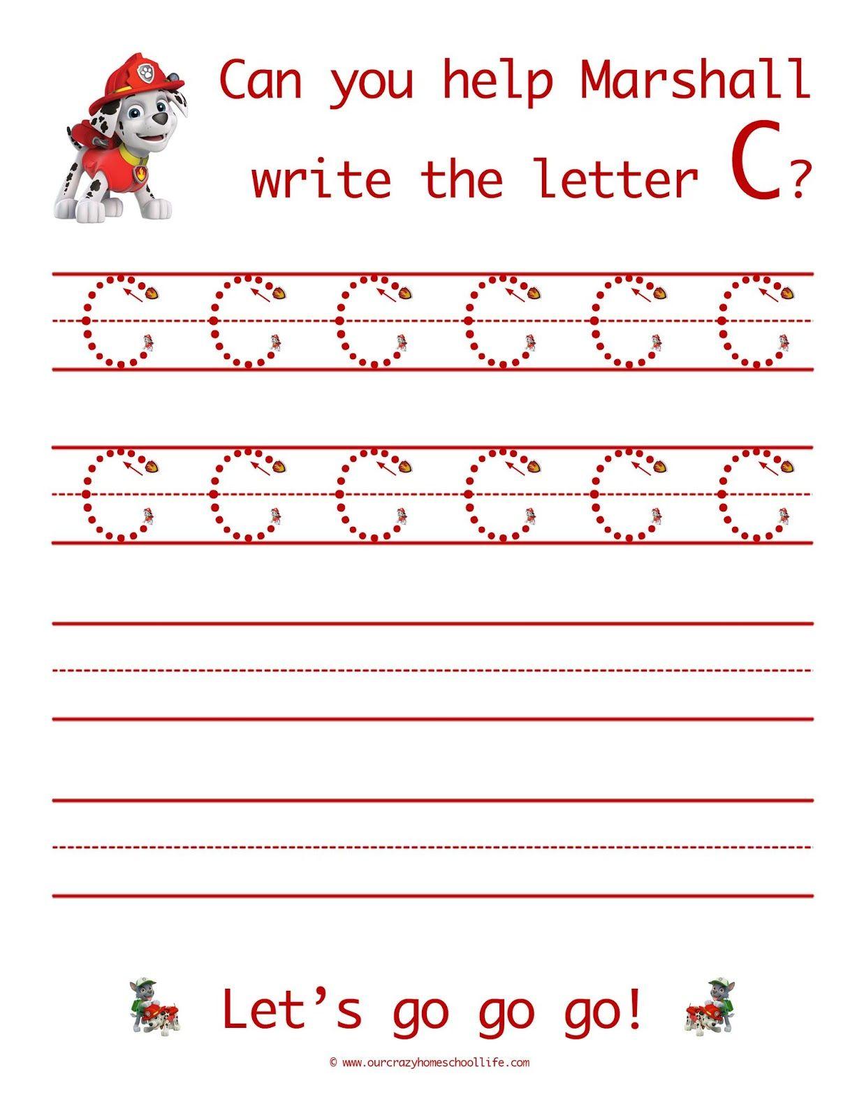 The Letter C FREE Patrol Patrol Handwriting Printables