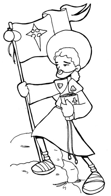 st james the greater catholic coloring page feast day is july 25th