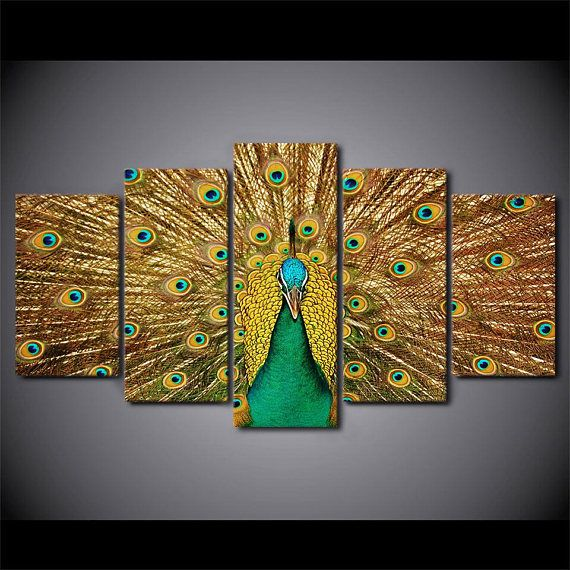 Charmant Peacock Wall Art Peacock Canvas Art Peacock Wall Decor