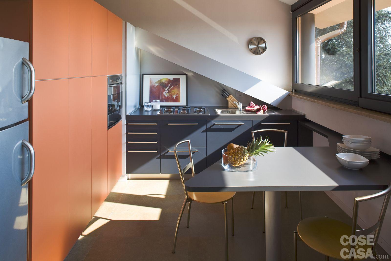 La mansarda di 110 mq è stata trasformata in abitazione e ...