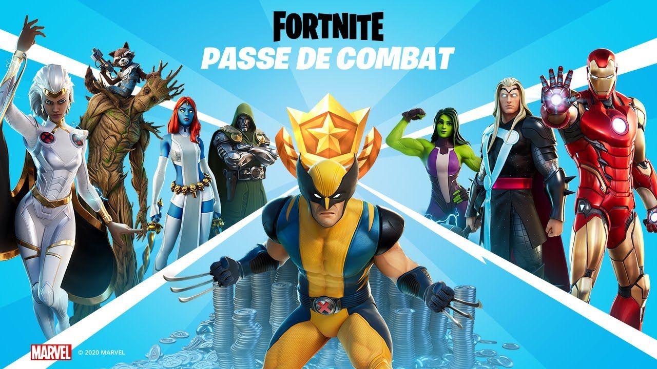 Fortnite Chapitre 2 Saison 4 Presentation Du Passe De Combat Em 2020 Fortnite Marvel Batalha