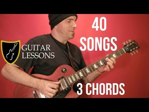 40 EASY EASY Rock Songs, THREE Chords! - Guitar Lesson ( With ...