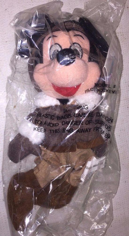 Disney Bean Bag Plush MICKEY MOUSE PILOT