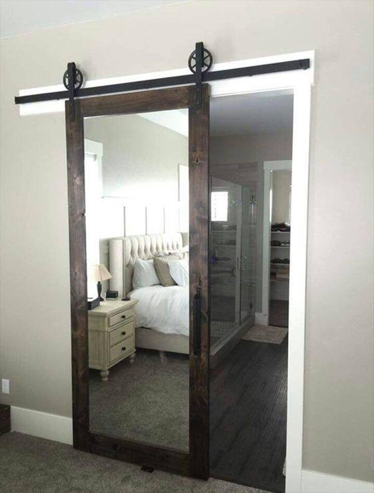 Mirrored Barn Door Remodel Bedroom Home Bedroom Bedroom Makeover