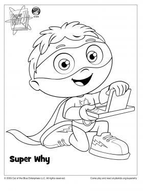 Super Why Coloring Page – Super WHY Coloring Pages for Kids | Sprout ...