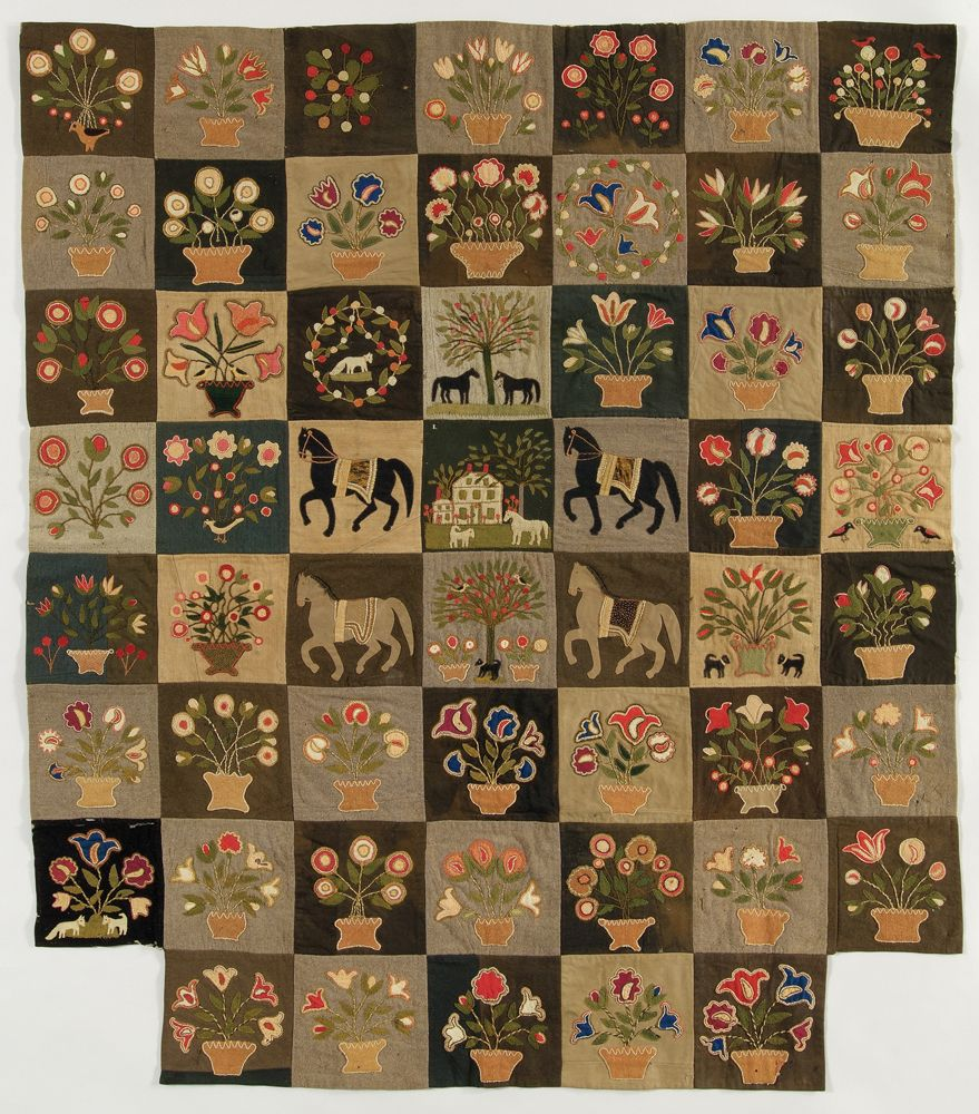 Pieced quilt attributed to Emily Monroe, c. 1865. | Antique Quilts ... : historical quilts - Adamdwight.com