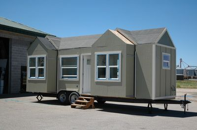 Tiny Home With Three Gabled Bump Outs Under Construction