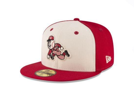 quality design a813e e7e14 Cincinnati Reds Vintage Throwback 59Fifty Fitted Cap by NEW ERA x MLB