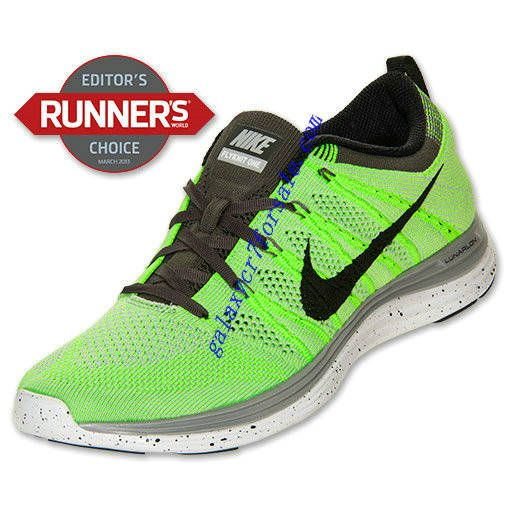 big sale 5b7a8 0b548 Buy Nike Flyknit Lunar 1 Review Shoes Mens Electric Green Black Wolf Grey  Midnight 554887 300