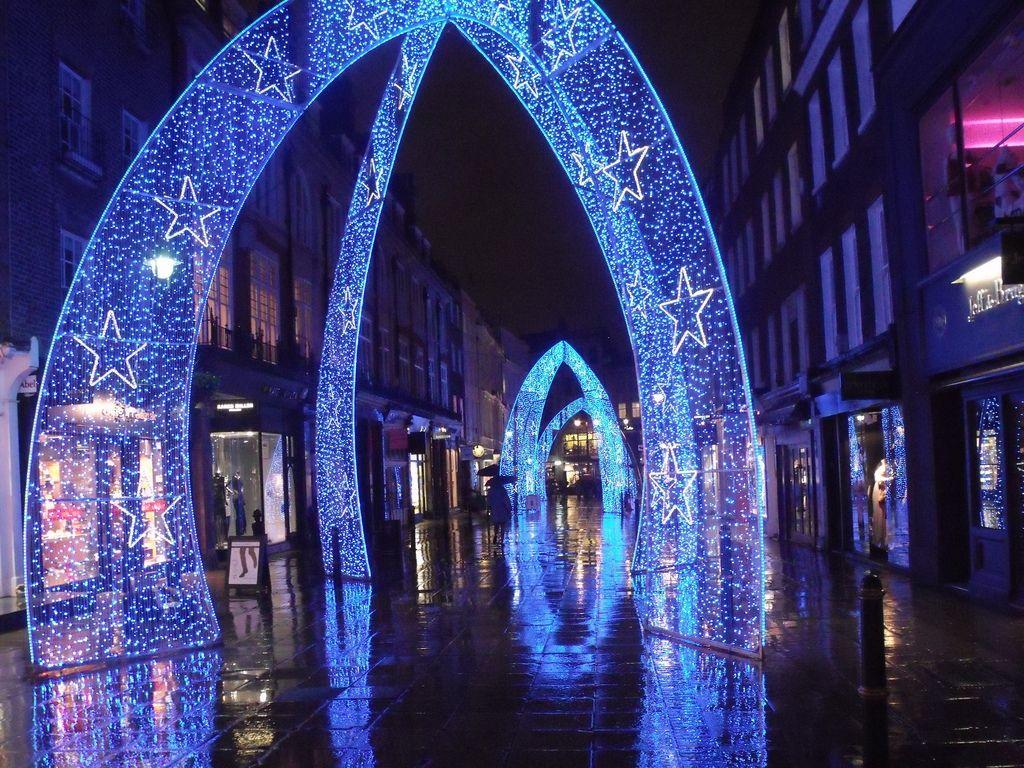 The incredible Christmas lights off Oxford Street London