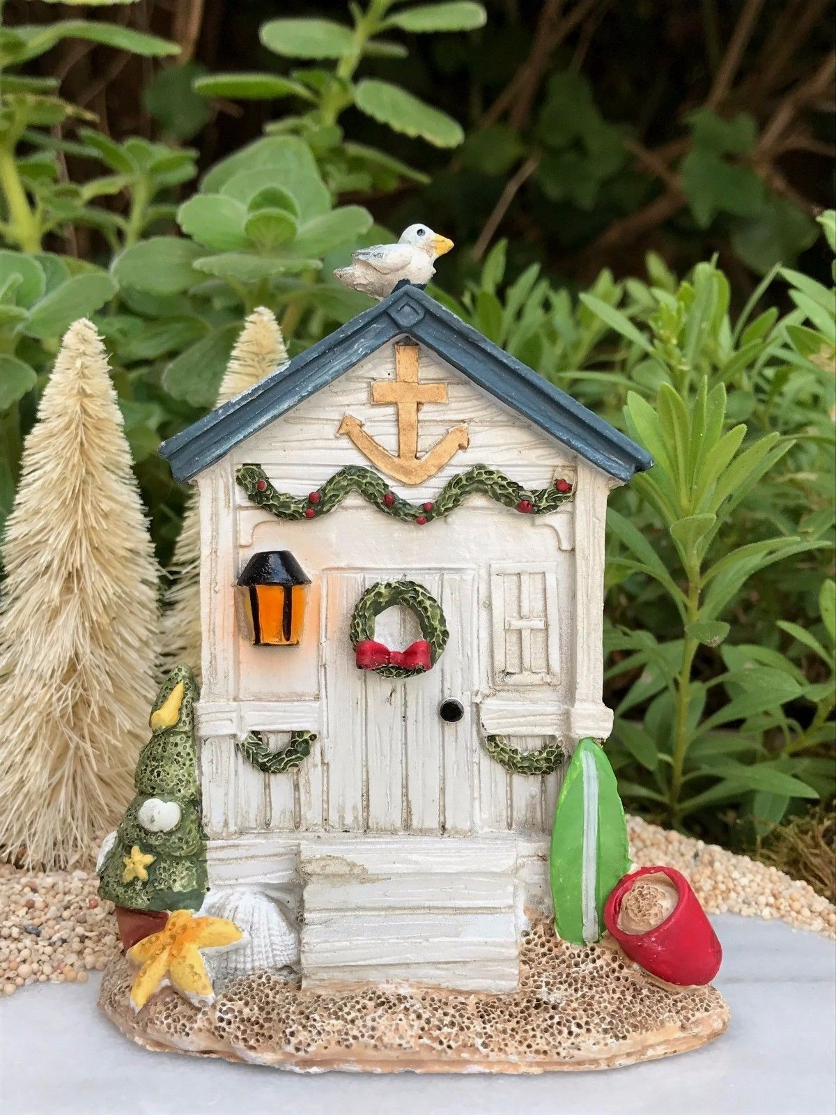 Fairy Garden Christmas Miniature Christmas Outhouse