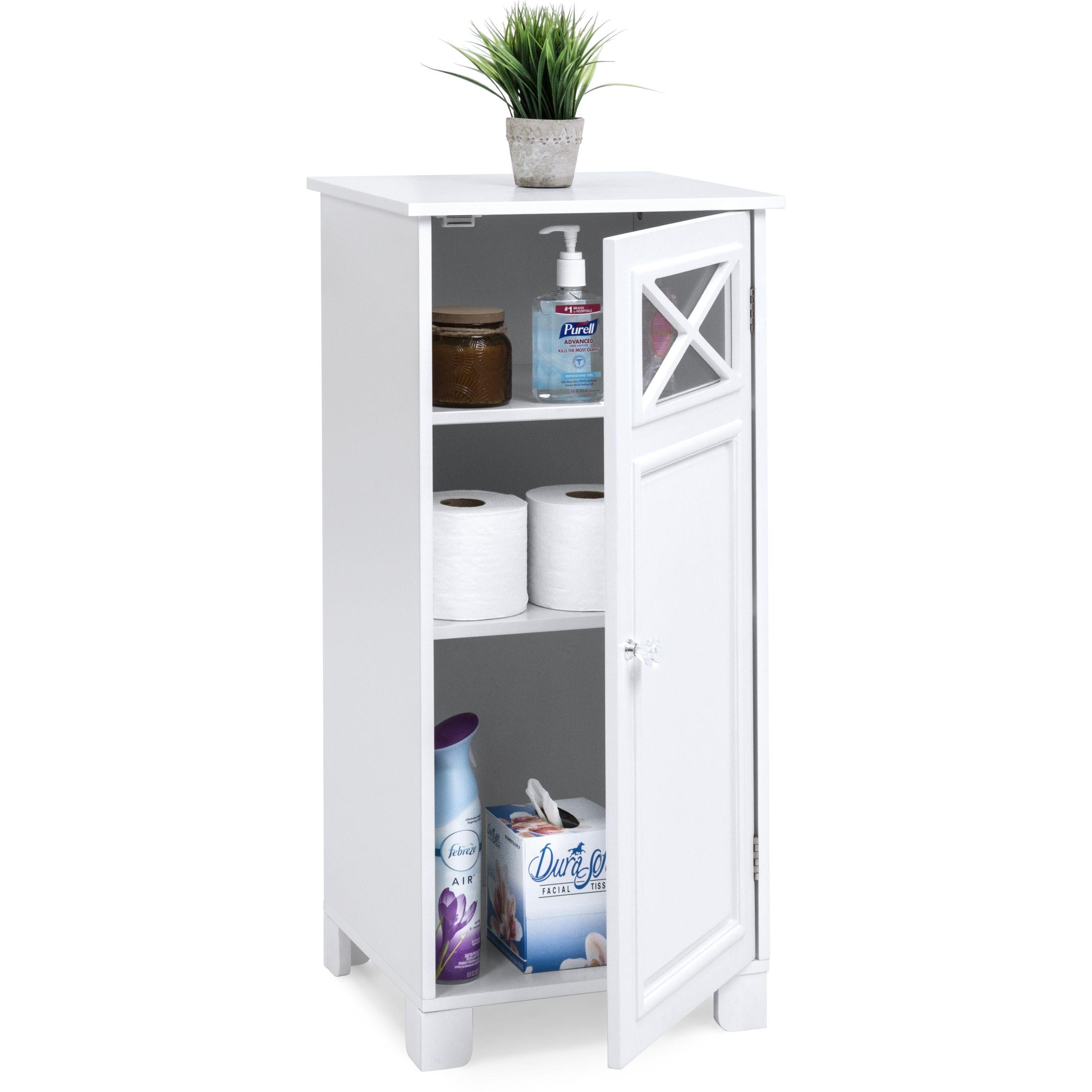 Best Choice Products 3 Tier Wooden Floor Cabinet For Bathroom Storage And Organization W Adjustable Shelves White Walmart Com White Bathroom Storage Bathroom Floor Storage Cabinet Bathroom Floor Storage