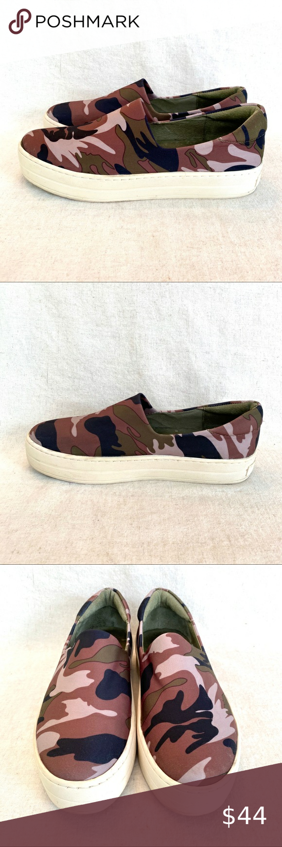 J Slides Camo Stretch Slip On Platform Sneaker 9 In 2020 Platform Sneakers Sneakers Vans Classic Slip On Sneaker