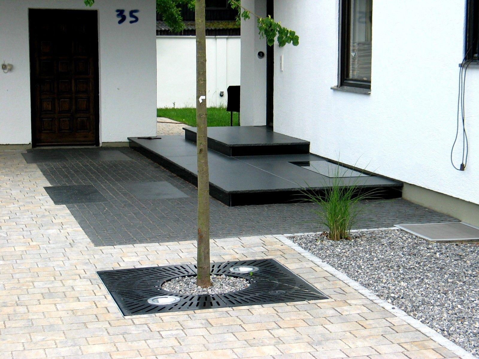 Www.vielfalt-stein.de Bilder Sonderanfertigungen Eingangspodest ... Fliesen Im Vorgarten