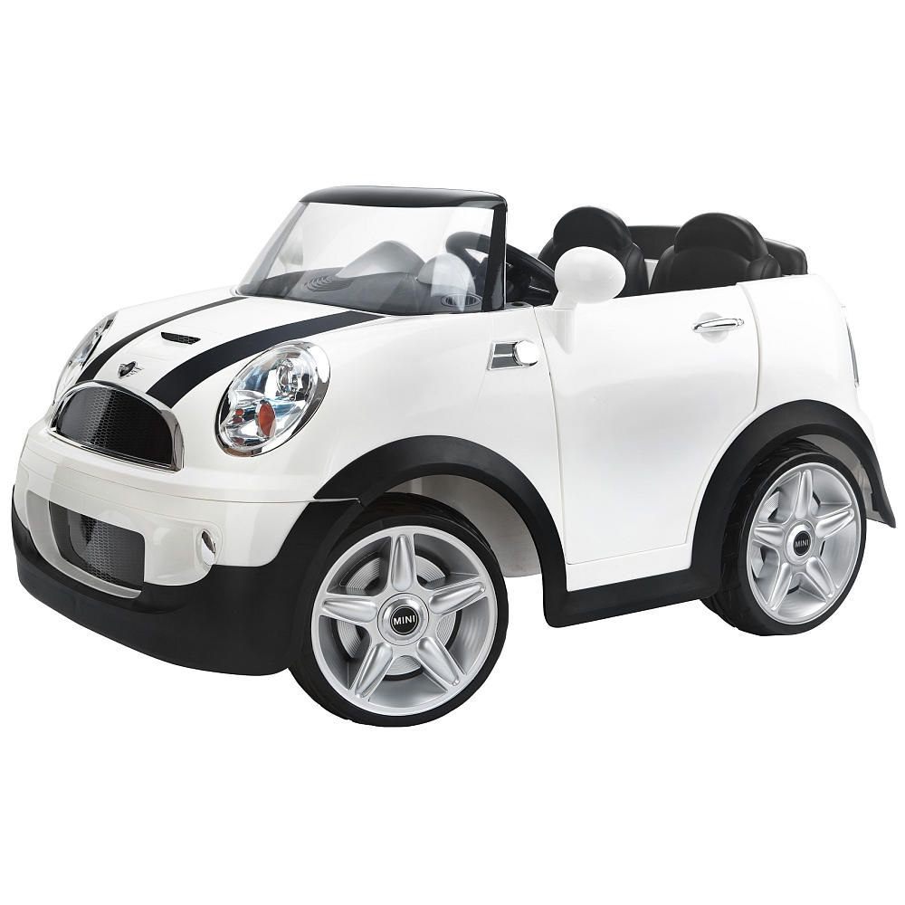kidtrax mini cooper s battery powered electric ride on car white in toys games outdoor toys activities ride on cars electric battery powered