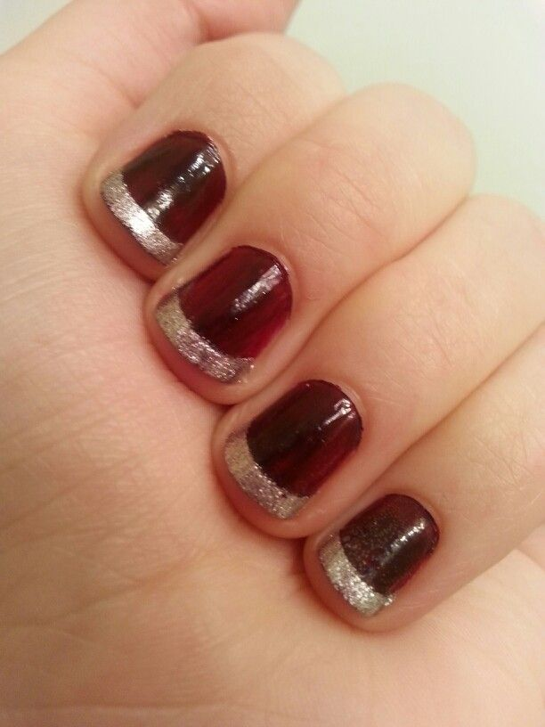Red and Silver French Nails | Styles | Pinterest | French nails