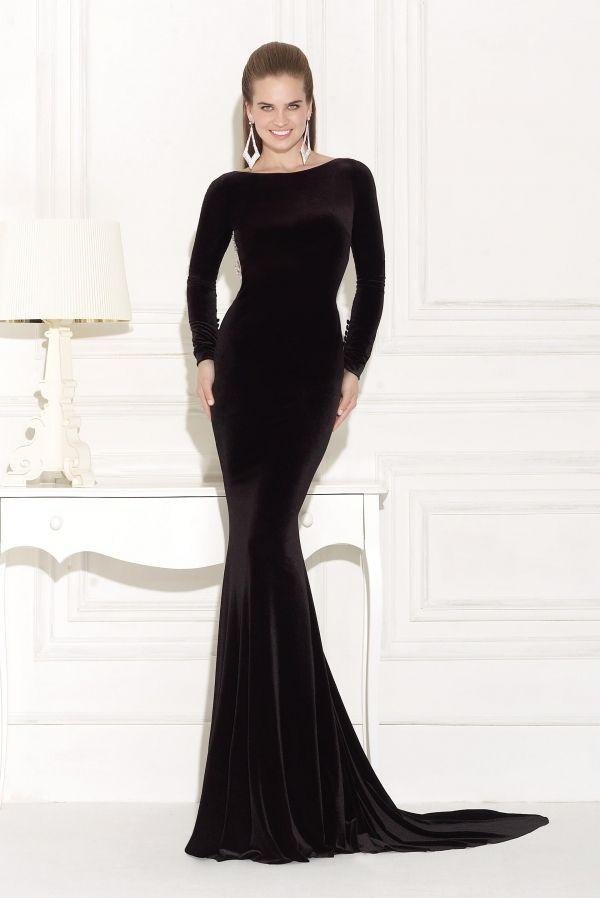 Imagenes de vestidos de noche en color negro