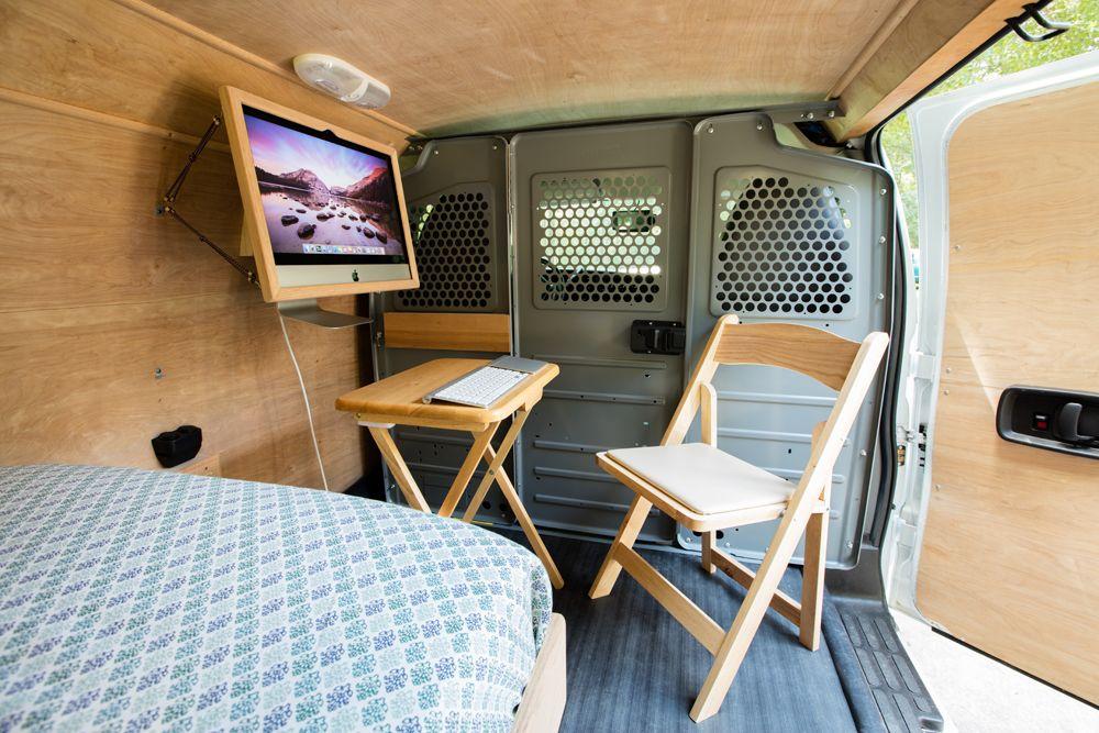 Cargo mobili ~ Houston man converts cargo van into beautiful tiny home u and he