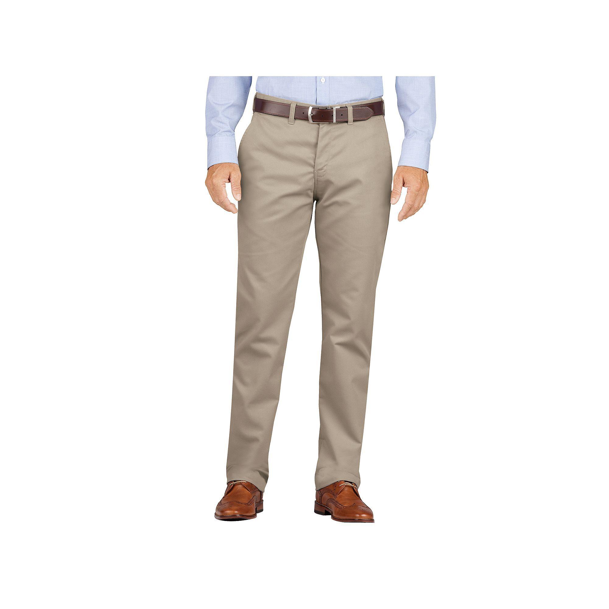 Dickies Men s Slim-Fit Wrinkle-Resistant Khaki Dress Pants ... 6e6ce946a