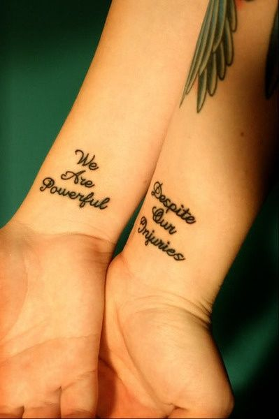 Oh Yeah Girly Tattoos for sisters or best friends. Love it @ lizz