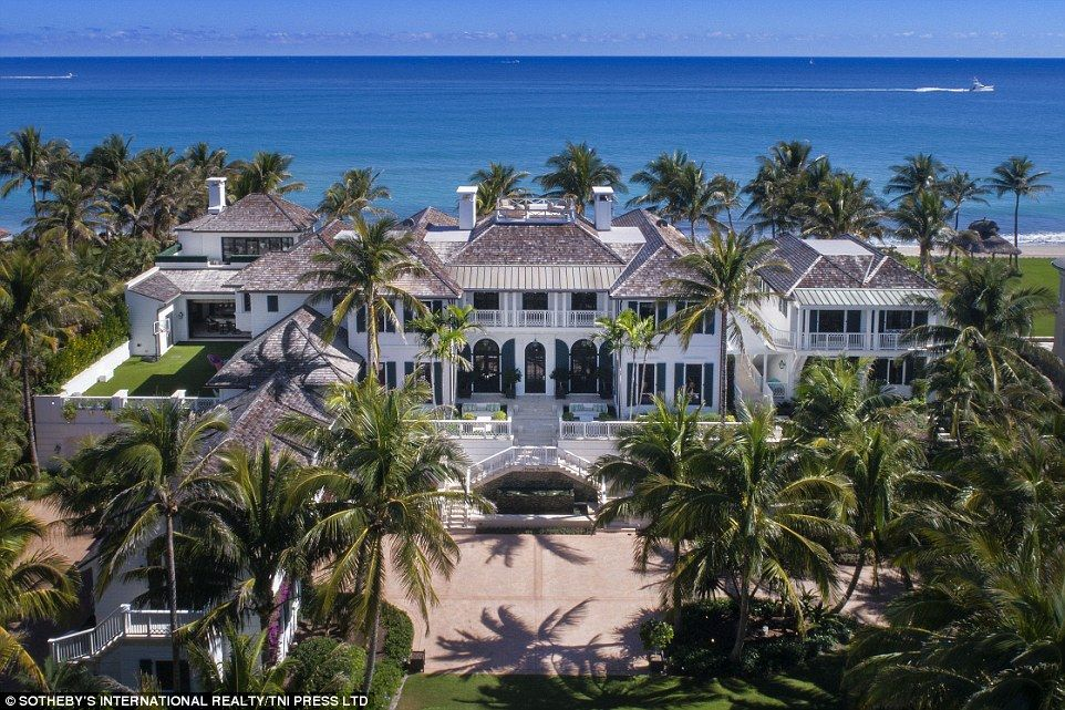 Mammoth The Estate Is Spectacular When Viewed From The Air And Is Set In A Gated 1 4 Acres Beach Mansion Florida Mansion North Palm Beach