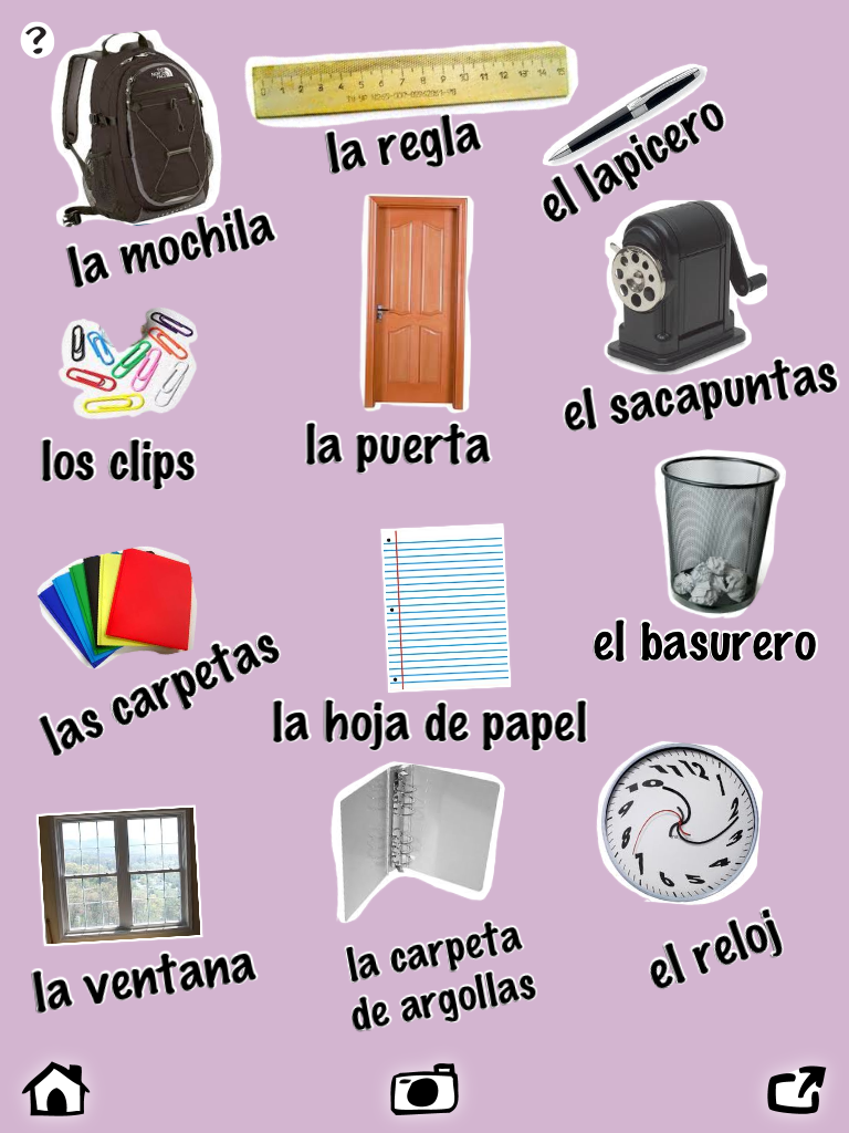 Classroom Vocabulary In Spanish Worksheet Google Search Projects