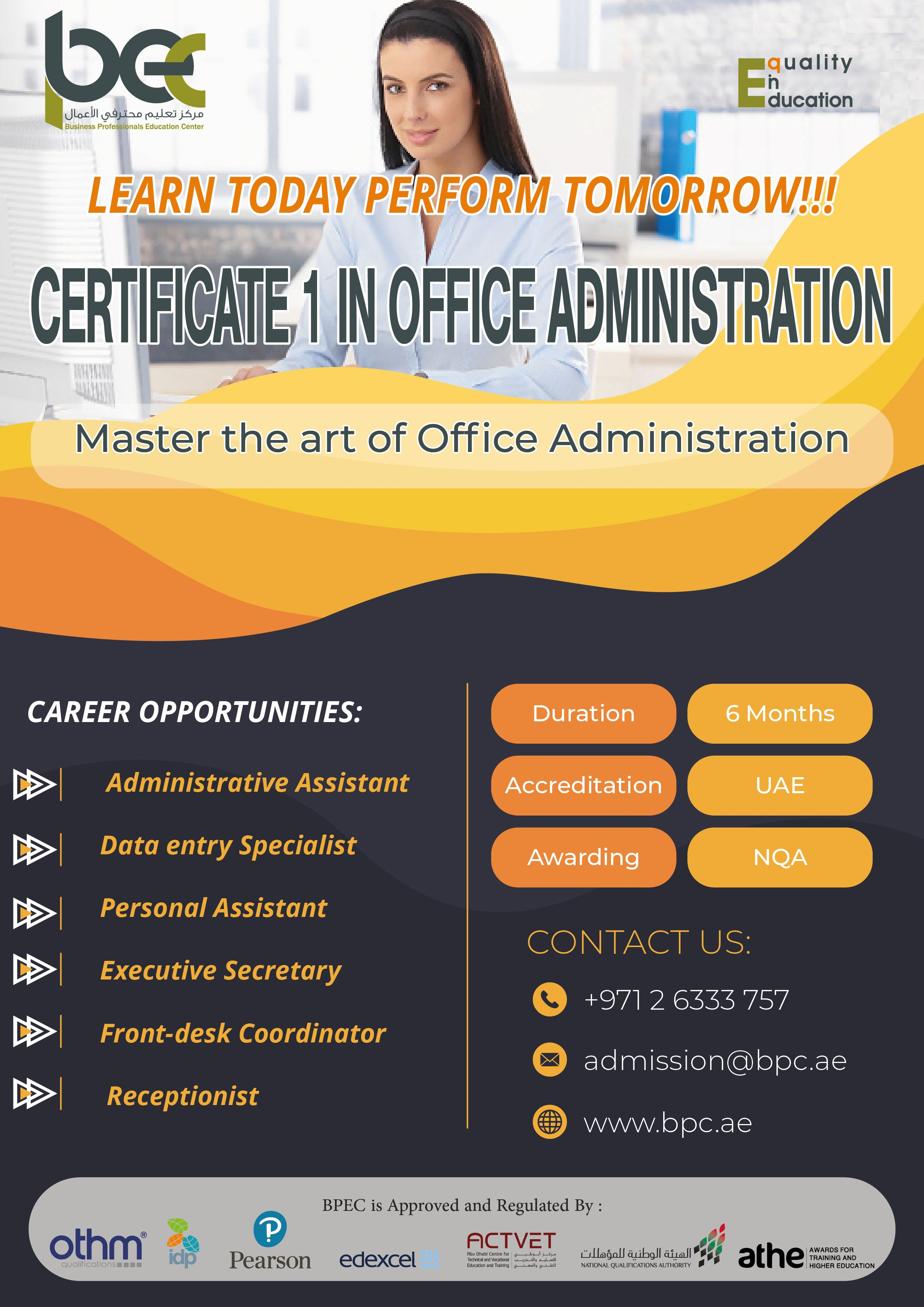 Its time to master office administration pursue this