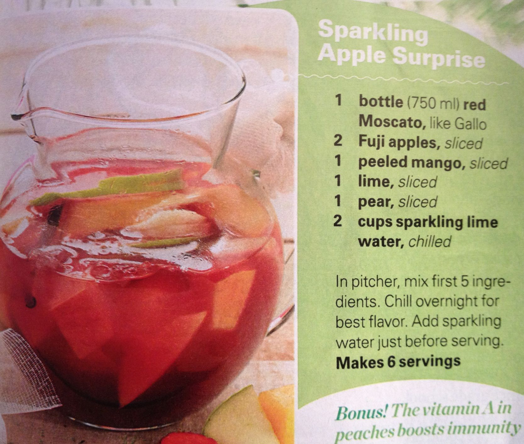 Here's a great excuse to make a batch of sangria.  Wine is supercharged with Resveratrol, which increases the activity of cells' energy-producing engines.  Translation... it increases stamina and endurance during physical tasks by 180%, can reduce formation of new fat tissue by up to 80%, and reduces the risk of weight gain, diabetes and heart disease!!
