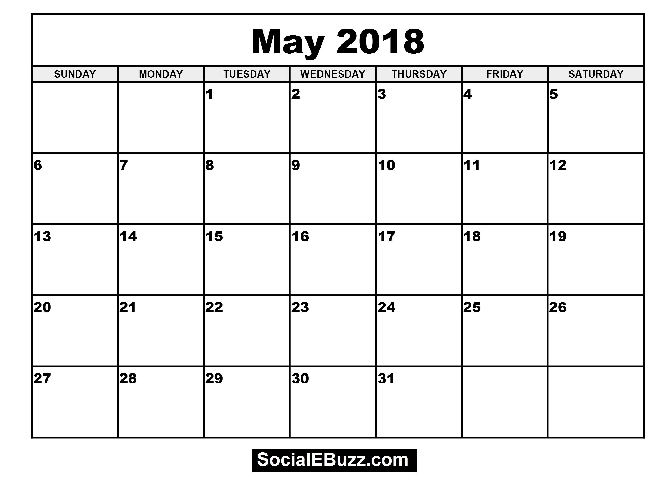 May Calendar Book : May printable calendar http socialebuzz