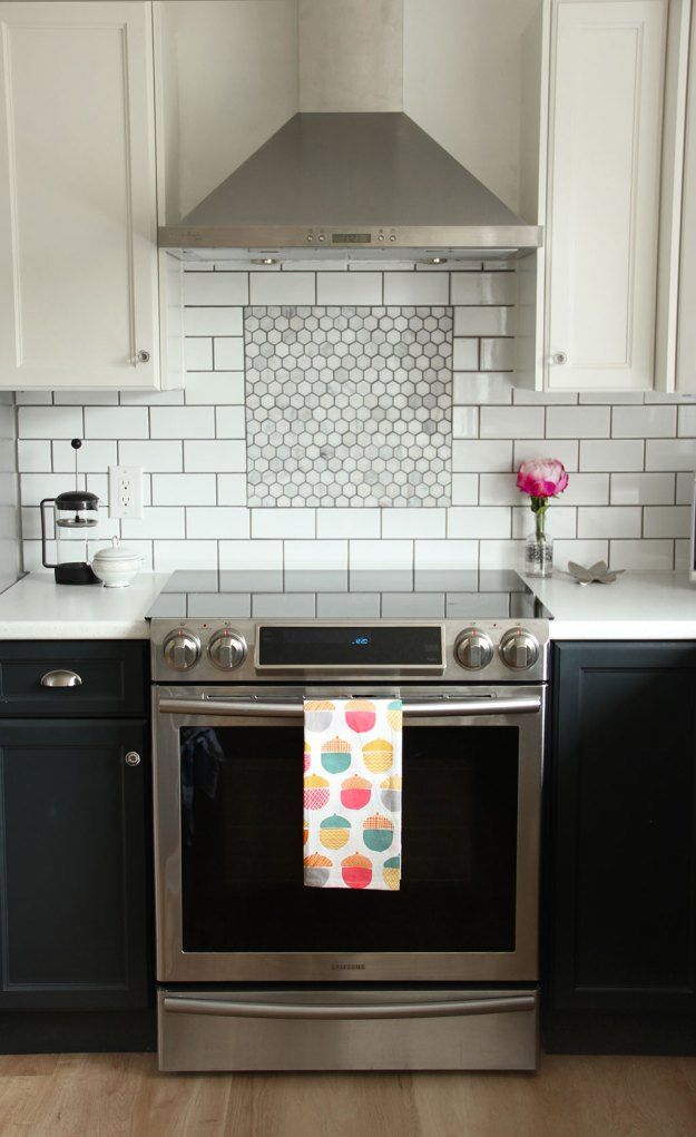 Tile Inlay Kitchen Backsplash