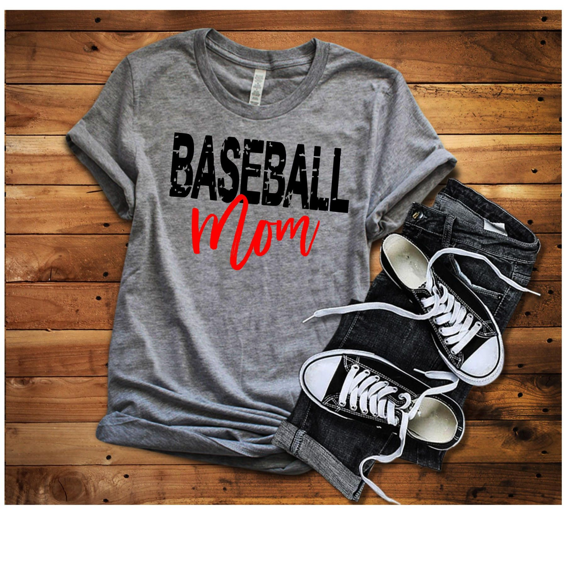 ef14be49 Baseball Mom Shirt, Baseball Shirt, Woman's Baseball Shirt, Baseball  Grandma Shirt, Baseball