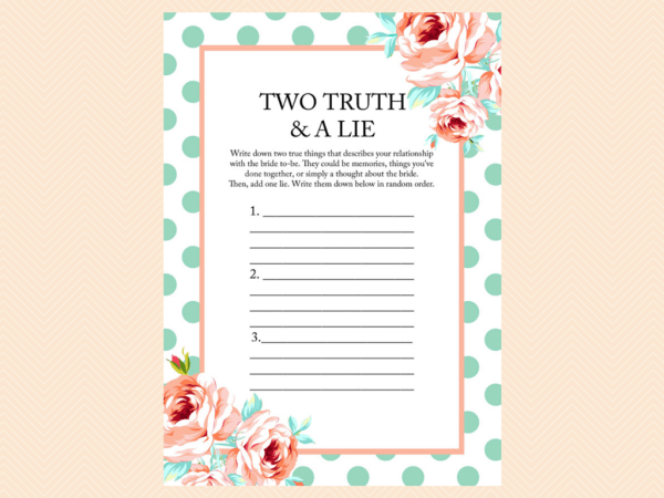 Mint and Peach Bridal Shower Game Package | Peach baby ...
