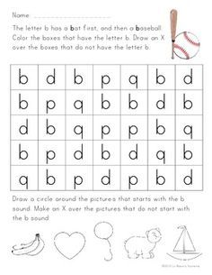 b and d letter reversal worksheets   Google Search | teaching