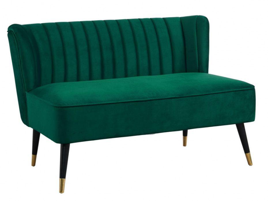 2 Sitzer Sofa Samt Priso Tannengrun In 2020 Samt Sofa 2 Sitzer Sofa Sofa
