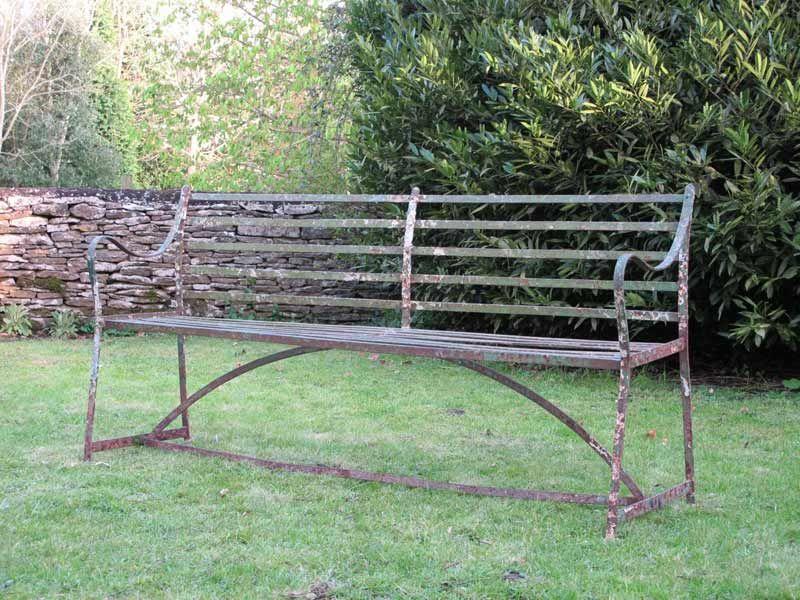 Wonderful 19th Cent English Regency Garden Bench