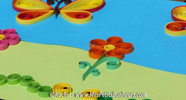Easy quilling for children quilling facile pour les - Bricolage facile a faire en papier ...