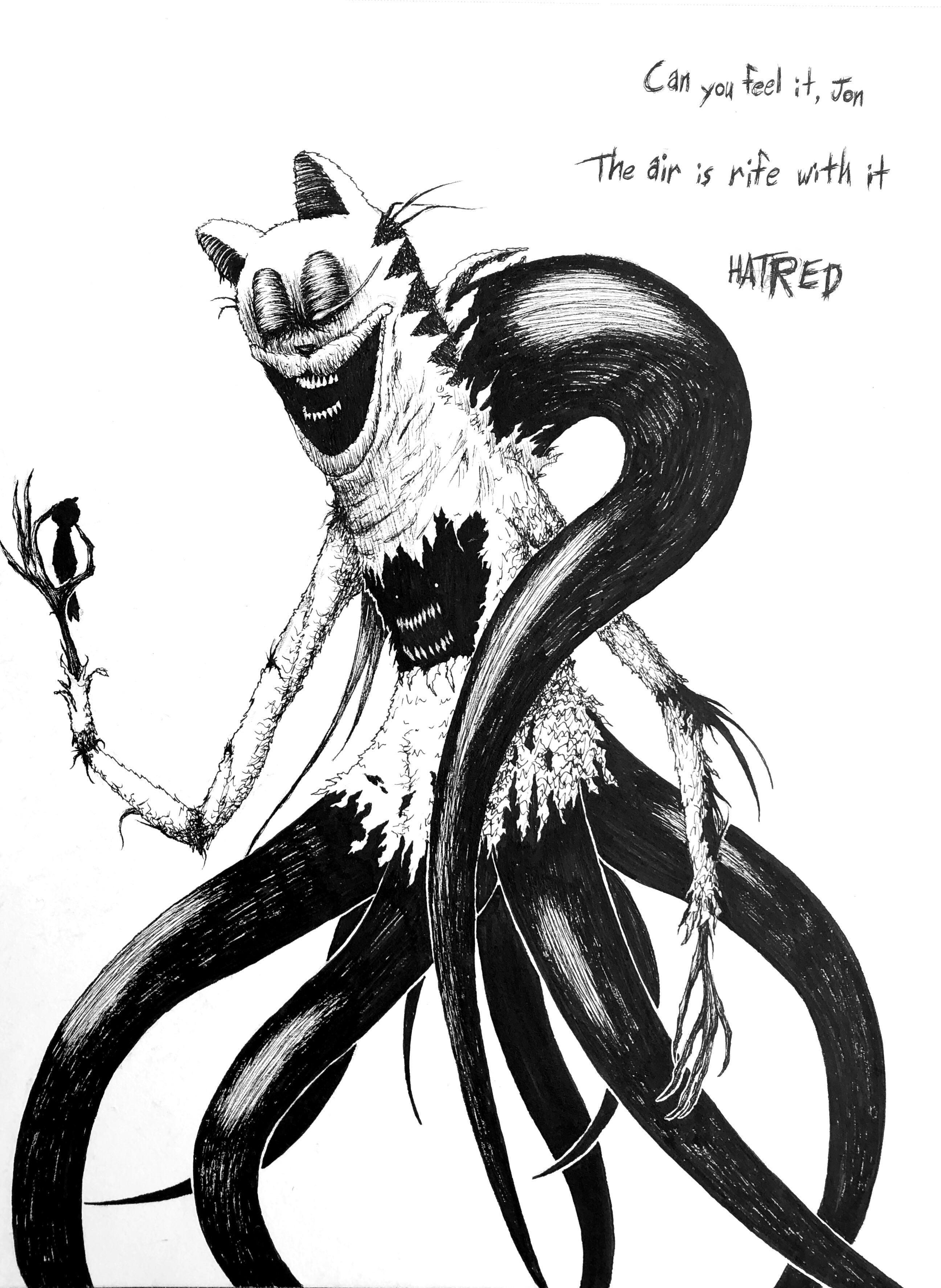 It S Festering Jon Creepy Garfield Scary Art Creepy Creepy Images