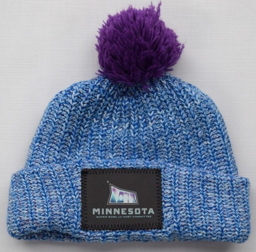 85a39603298 LOVE YOUR MELON Blue   Purple MINNESOTA SUPER BOWL LII Knit Beanie Hat Cap  Adult  fashion  clothing  shoes  accessories  unisexclothingshoesaccs ...