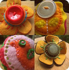 felt and buttons